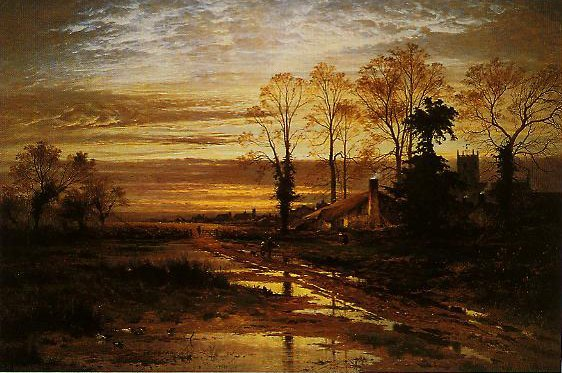February Fill Dyke   Benjamin Williams Leader   oil painting