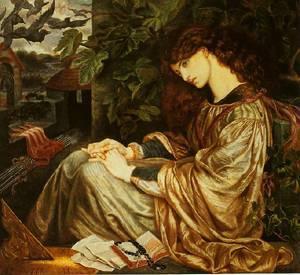 La Pia De'tolomei | Dante Gabriel Rossetti | oil painting