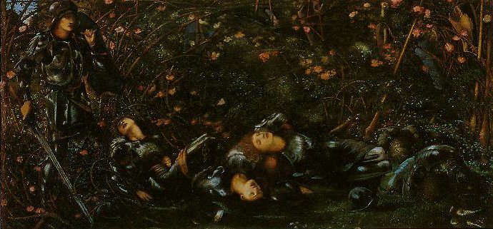 The Prince Enters The Wood | Edward Burne-Jones | oil painting