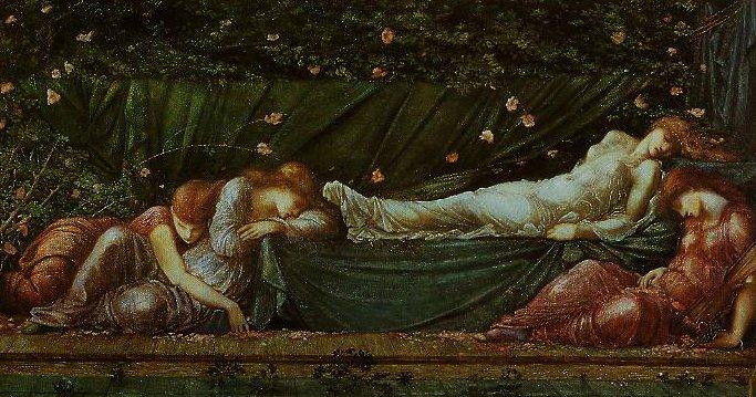 The Sleeping Beauty | Edward Burne-Jones | oil painting