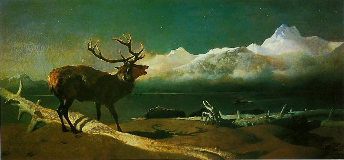 Coming Events Cast Their Shadow Before Them(The Challenge) | Edwin Landseer | oil painting