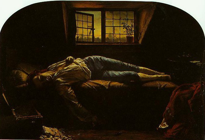 The Death Of Chatterton | Henry Wallis | oil painting