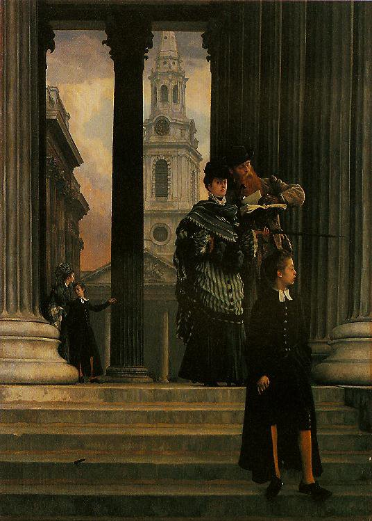 London Visitors | James Tissot | oil painting