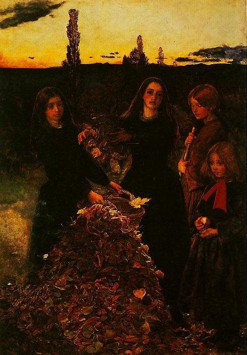 Autumn Leaves | John Everett Millais | oil painting