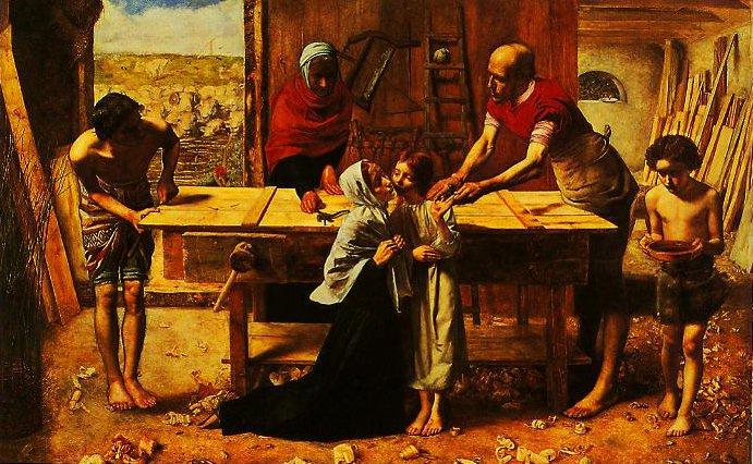 Christ In The Carpenter's Shop | John Everett Millais | oil painting