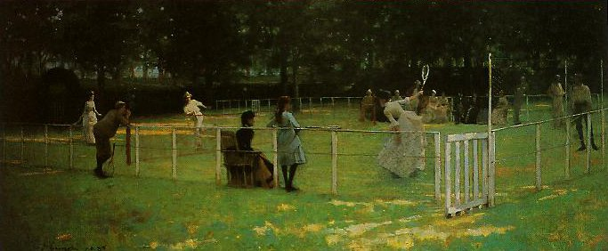 The Tennis Match | John Lavery | oil painting
