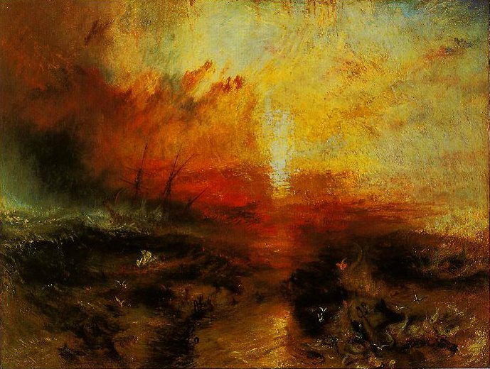 Slavers Throwing Overboard The Dead And Dying-Typhon Coming On | Joseph Mallord William Turner | oil painting