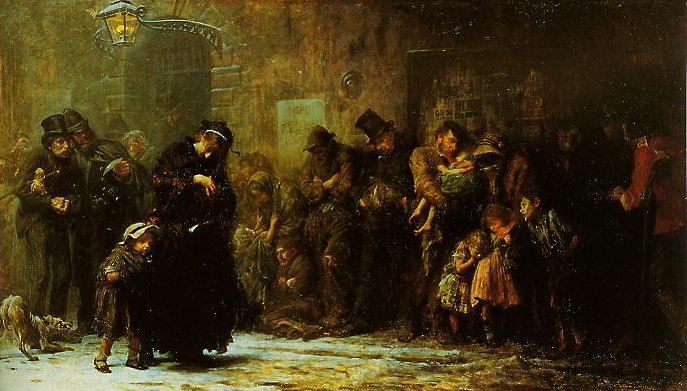 Applicants For Admission To A Casual Ward   Samuel Luke Fildes   oil painting