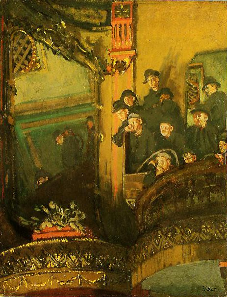 The Gallery Of The Old Bedford | Walter Sickert | oil painting