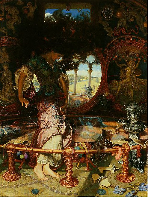 The Lady Of Shalott | William Holman Hunt | oil painting