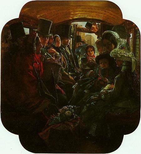 Omnibus Life In London | William Maw Egley | oil painting