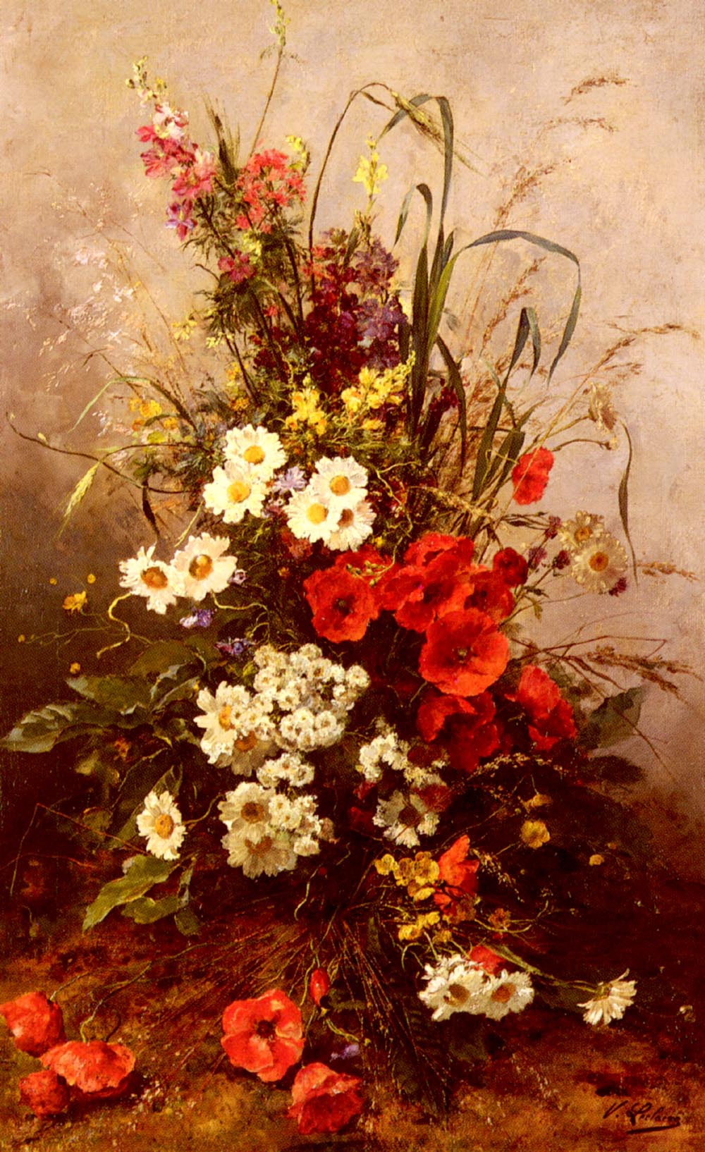 Wild Flowers | Victor Leclaire | oil painting