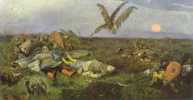 After Prince Igois Battle With The Polovtsy 1880 | Victor Vasnetsov | oil painting