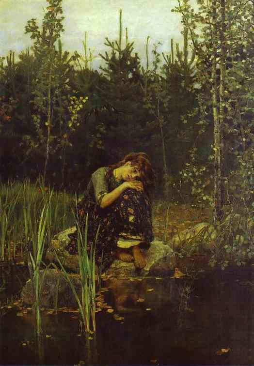 Alionushka 1881 | Victor Vasnetsov | oil painting