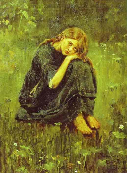 Alionushka Study | Victor Vasnetsov | oil painting