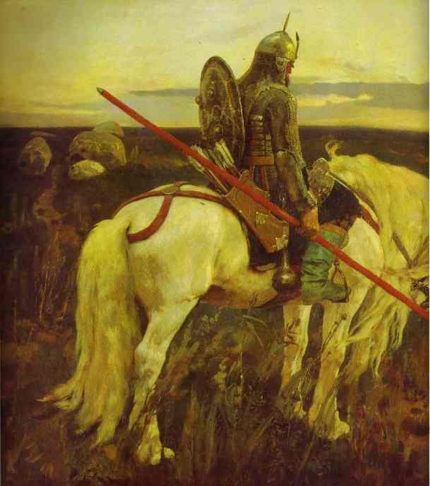 A Knight At The Crossroads Detail 1882 | Victor Vasnetsov | oil painting