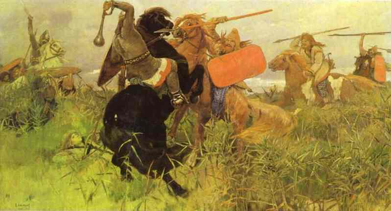Battle Of Slavs And Scythians 1881 | Victor Vasnetsov | oil painting