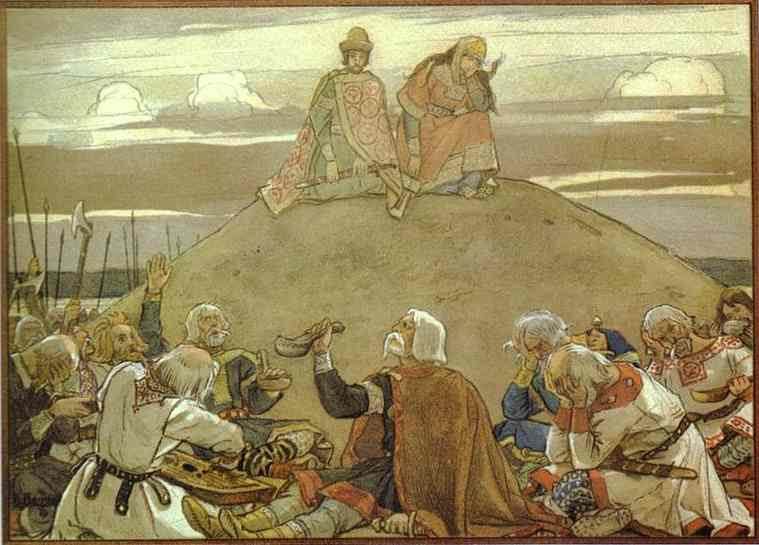 Funeral Feast For Oleg 1899 | Victor Vasnetsov | oil painting