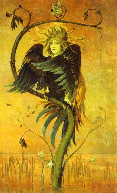 Gamayun The Prophet Bird 1897   Victor Vasnetsov   oil painting