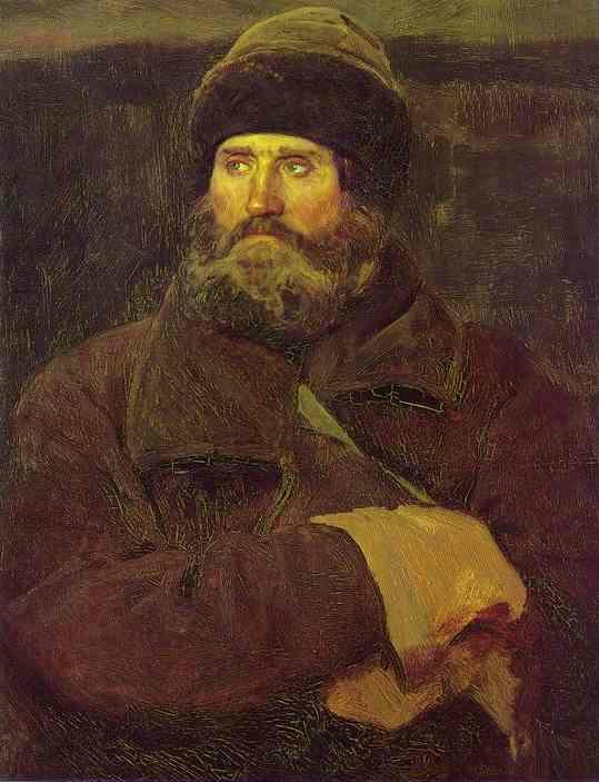 Ivan Petrov A Peasant From Vladimir Province Study 1883 | Victor Vasnetsov | oil painting
