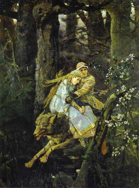 Ivan Tsarevich Riding The Grey Wolf 1889 | Victor Vasnetsov | oil painting