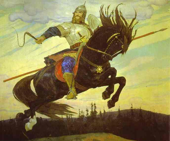 Knightly Galloping 1914 | Victor Vasnetsov | oil painting
