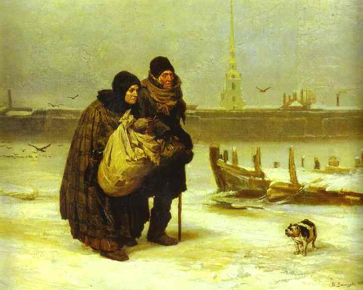 Moving House 1876 | Victor Vasnetsov | oil painting