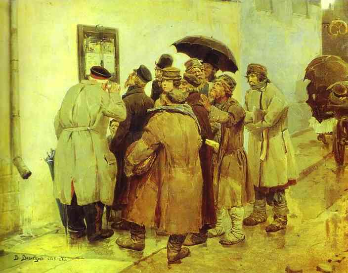 News From The Front 1878 | Victor Vasnetsov | oil painting