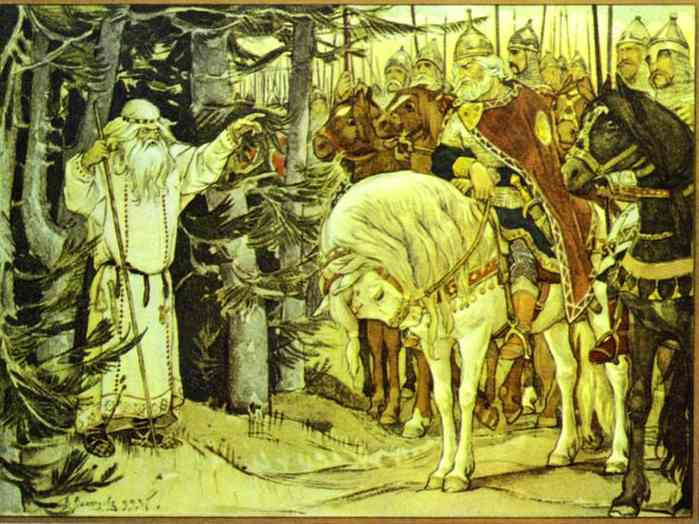 Oleg Meeting The Magus 1899 | Victor Vasnetsov | oil painting