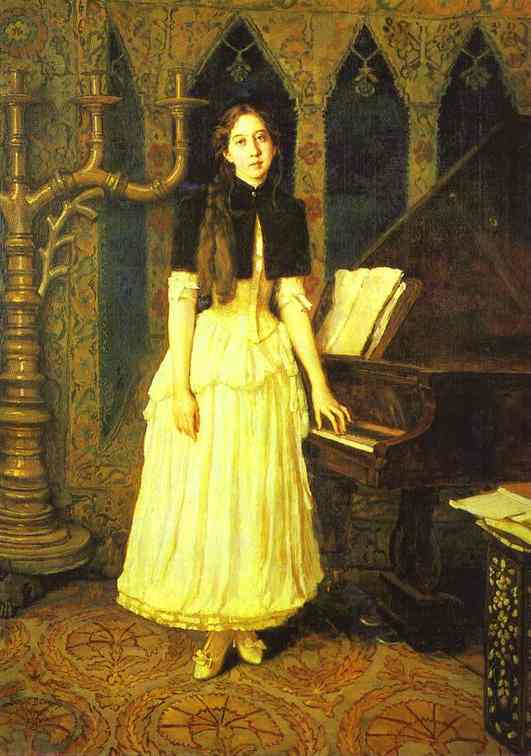 Portrait Of Elena Prakhova 1894 | Victor Vasnetsov | oil painting