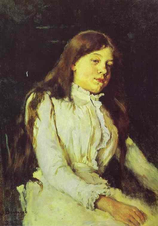 Portrait Of Natalia Mamontova 1883 | Victor Vasnetsov | oil painting