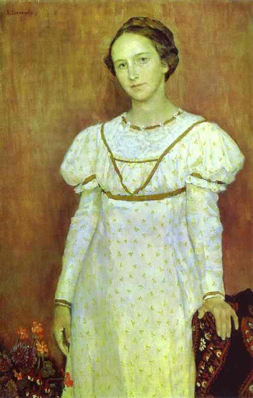 Portrait Of Olga Poletayeva 1912 | Victor Vasnetsov | oil painting