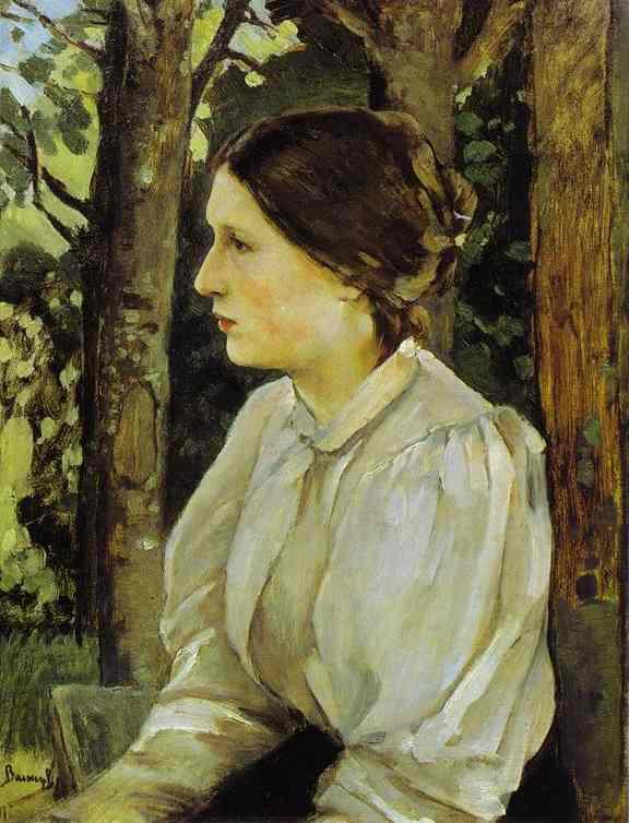 Portrait Of Tatyana Vasnetsova The Artists Daughter 1897 | Victor Vasnetsov | oil painting