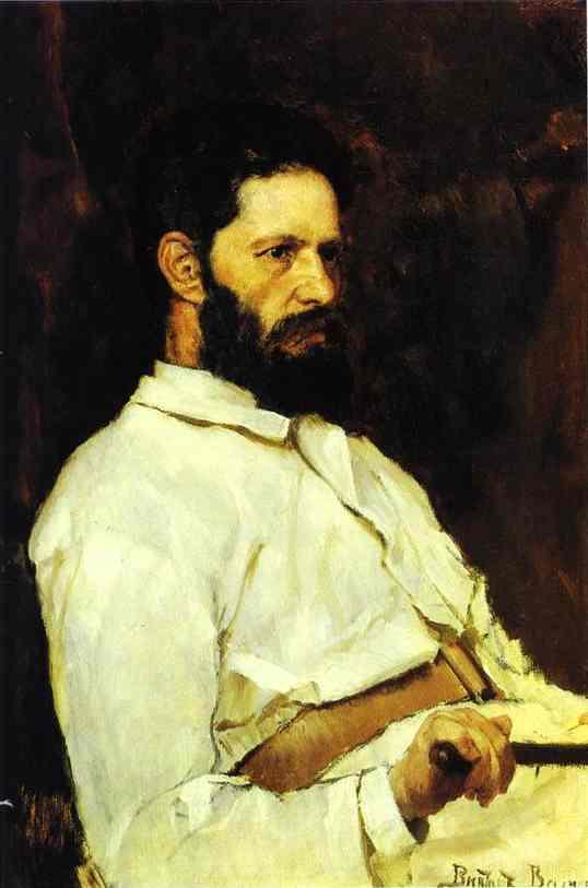 Portrait Of The Sculptor Mark Antokolsky 1884 | Victor Vasnetsov | oil painting