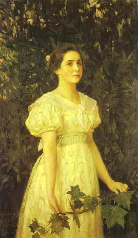 Portrait Of Vera Mamontova 1896 | Victor Vasnetsov | oil painting