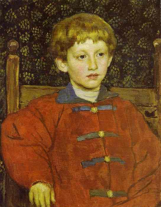 Portrait Of Vladimir Vasnetsov The Artists Son 1899 | Victor Vasnetsov | oil painting