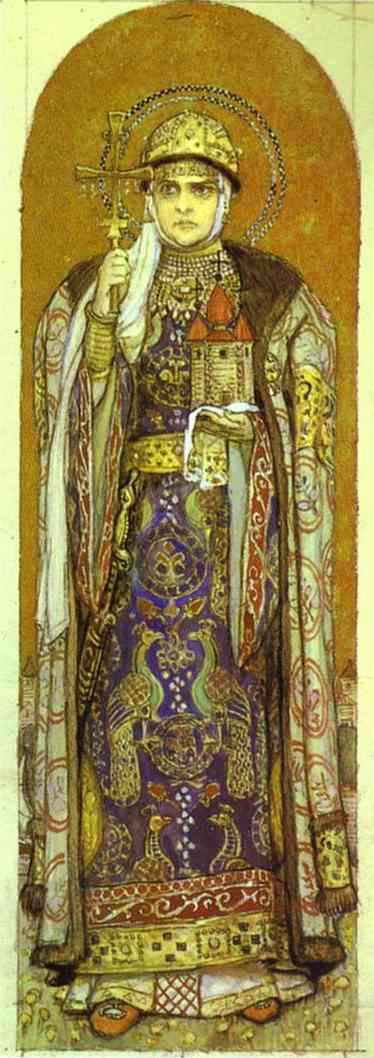 Portrait Of Zinaida Sredina 1909 | Victor Vasnetsov | oil painting