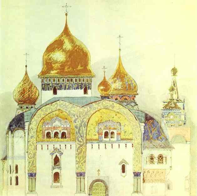 St Sergiy Radonezhskiky 1882 | Victor Vasnetsov | oil painting