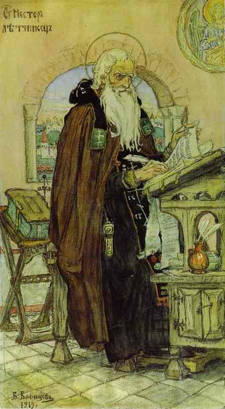 The Chronicler Nestor 1919 | Victor Vasnetsov | oil painting