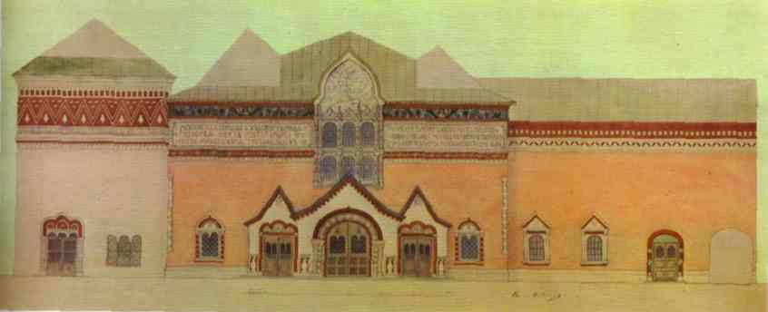 The Design Of The Facade Of The Tretyakov Gallery 1902-1904 | Victor Vasnetsov | oil painting