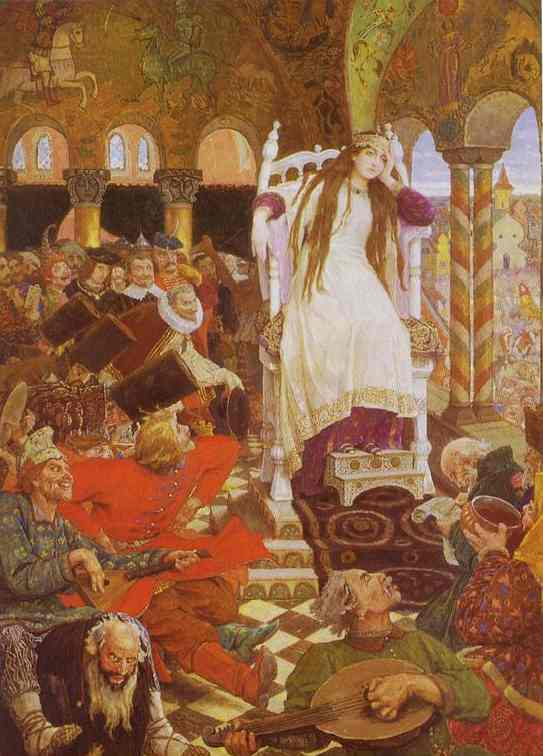 The Unsmiling Tsarevna 1916-26 | Victor Vasnetsov | oil painting