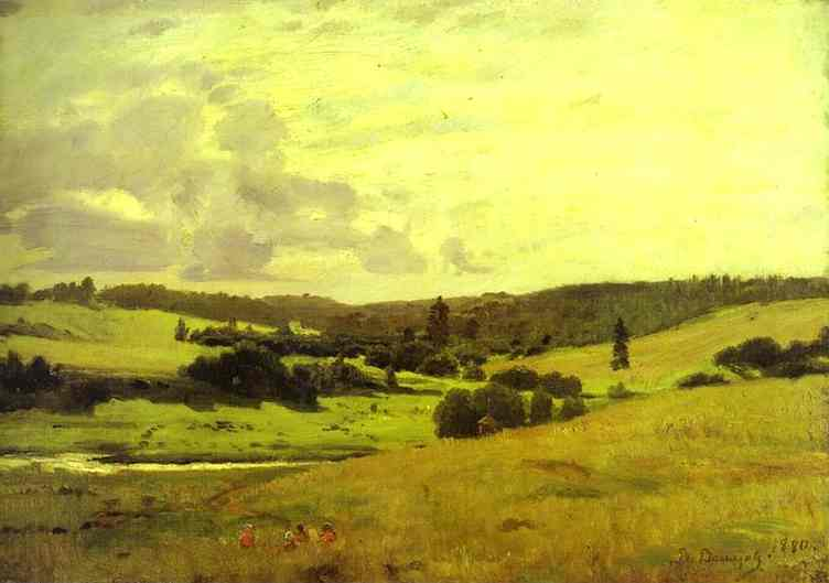 The Voria Rivers Valley Near The Village Of Mutovka 1880 | Victor Vasnetsov | oil painting