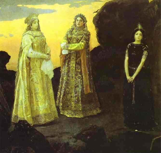 Three Tsarevnas Of The Underground Kingdom 1879-81 | Victor Vasnetsov | oil painting
