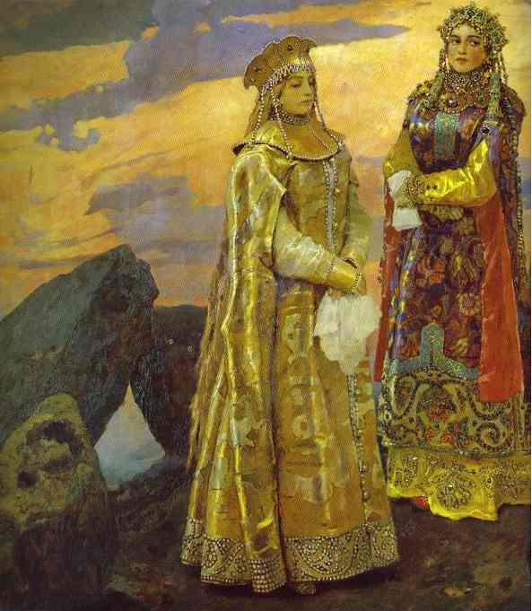 Three Tsarevnas Of The Underground Kingdom Detail 1884 | Victor Vasnetsov | oil painting
