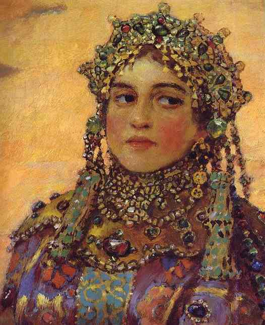 Three Tsarevnas Of The Underground Kingdom Detail 3 1884 | Victor Vasnetsov | oil painting