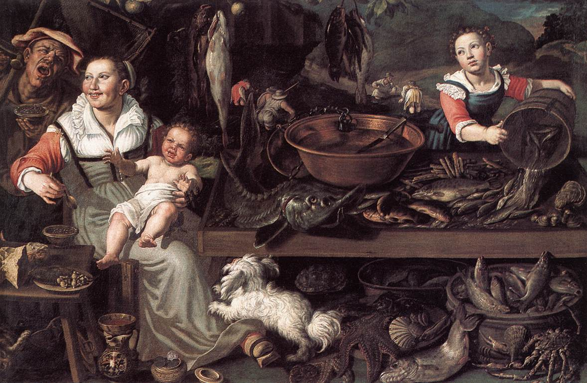 Fishmongers 1580s | Vincenzo Campi | oil painting