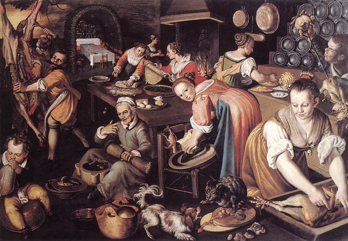 Kitchen 1580s | Vincenzo Campi | oil painting