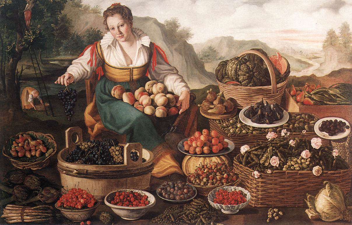 The Fruit Seller C 1580 | Vincenzo Campi | oil painting