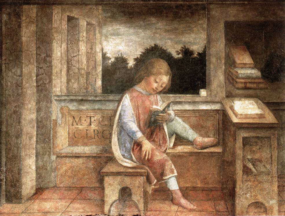 The Young Cicero Reading 1464 | Vincenzo Foppa | oil painting