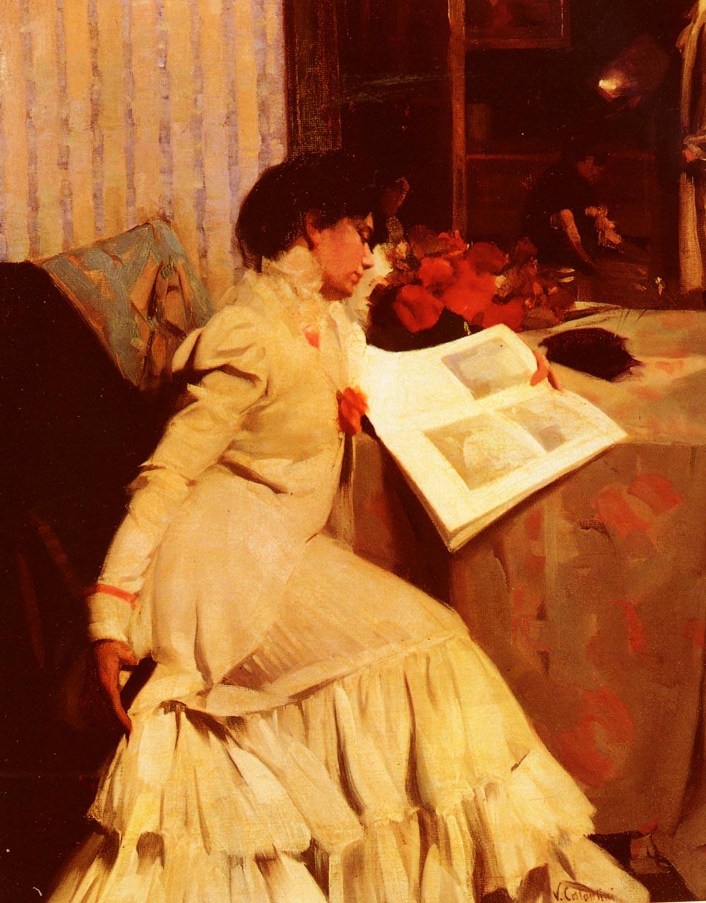 The Models Repose | Virgil Constantini | oil painting